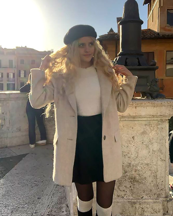 Alana sightseeing in Rome